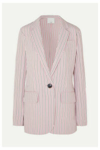 Tibi - Oversized Striped Twill Blazer - Blush