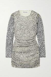 J.Crew - Shirred Floral-print Voile Mini Dress - Ivory