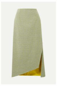 Silvia Tcherassi - Bea Gingham Woven Midi Skirt - Green