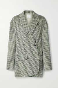 Brunello Cucinelli - Bead-embellished Stretch Silk-trimmed Striped Cotton Shirt - Red