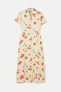 Reformation - Sheila Floral-print Georgette Midi Dress - Ecru