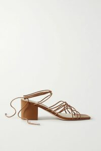 Balmain - Double-breasted Leather Blazer - Black