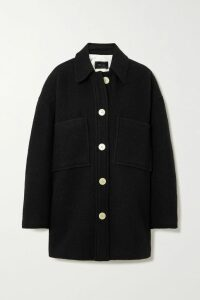 Balmain - Button-embellished Printed Cotton-jersey T-shirt - Black