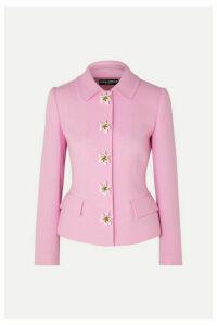 Dolce & Gabbana - Embellished Wool-crepe Blazer - Pink
