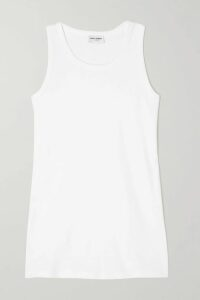 Rebecca Vallance - Holliday Belted Polka-dot Linen-blend Midi Dress - Papaya