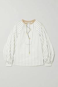 J.Crew - Spiro Tiered Gingham Cotton-poplin Midi Dress - Blue