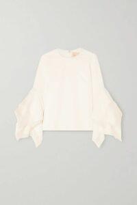 Needle & Thread - Scarlett Ruffled Sequined Tulle Midi Skirt - Gold