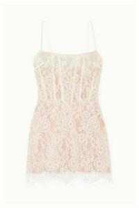Rasario - Lace And Tulle Mini Dress - White