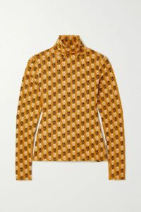 De La Vali - Cadaques Ruffled Animal-print Crepe De Chine Wrap Dress - Light brown