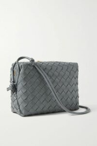 The Great - The Glen Picot-trimmed Striped Cotton-poplin Maxi Dress - Blue