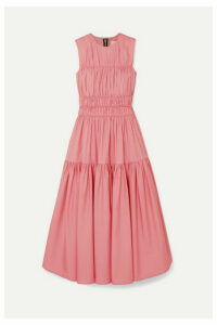 Roksanda - Isilda Gathered Cotton-poplin Midi Dress - Pink