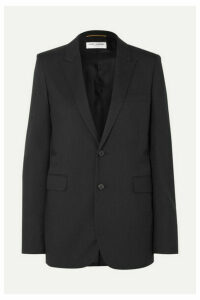 SAINT LAURENT - Wool-gabardine Blazer - Black
