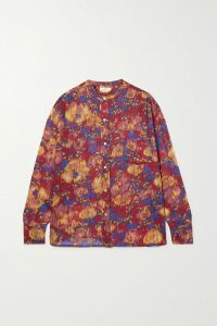Dolce & Gabbana - Pleated Floral-print Cotton Skirt - Red
