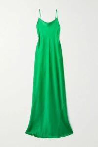SAINT LAURENT - Striped Metallic Fil Coupé Silk-blend Chiffon Shirt - Black