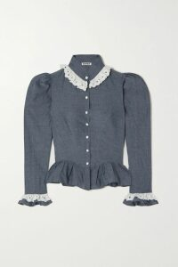 Stella McCartney - Prince Of Wales Checked Wool Blazer - Gray