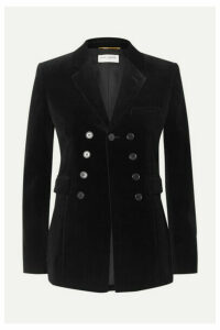 SAINT LAURENT - Cotton-velvet Blazer - Black