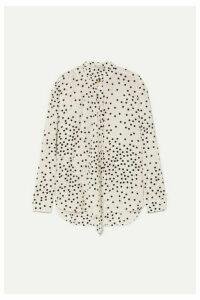 Stella McCartney - Polka-dot Silk-georgette Blouse - White
