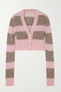 Chloé - Plissé-jacquard Midi Skirt - Violet