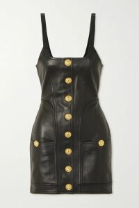 SAINT LAURENT - Embroidered Tulle And Silk-satin Playsuit - Black