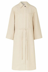 TRE by Natalie Ratabesi - The Roma Embellished Canvas Trench Coat - Beige