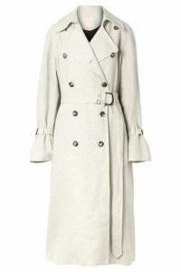 Roksanda - Daksa Sequined Silk And Linen-blend Trench Coat - Beige