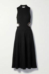 Retrofête - Claire Neon Sequined Chiffon Mini Dress - Green