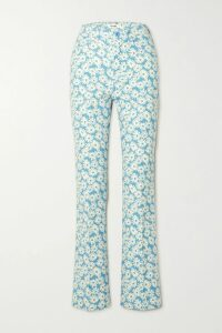 Retrofête - Audrey Velvet-trimmed Neon Sequined Chiffon Wrap Dress - Pink