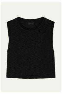 The Range - Tide Slub Cotton-jersey Tank - Black