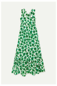 Borgo De Nor - Mila Floral-print Cotton Maxi Dress - Green