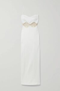Roksanda - Ada Two-tone Pleated Silk-satin Dress - Blue