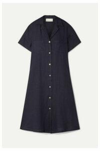 Mansur Gavriel - Linen Shirt Dress - Midnight blue