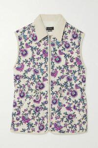 Solid & Striped - Polka-dot Voile Shirt - Lavender
