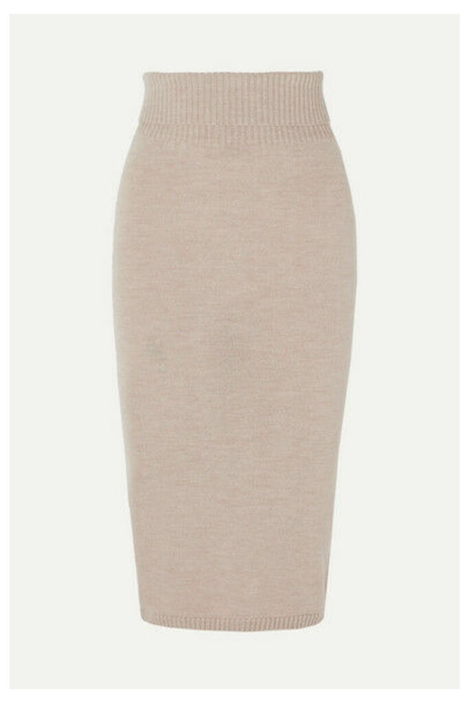 Max Mara - Leisure Wool Midi Skirt - Beige