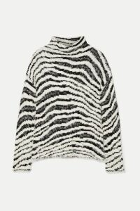 By Malene Birger - Dianella Zebra-intarsia Cotton-blend Turtleneck Sweater - White