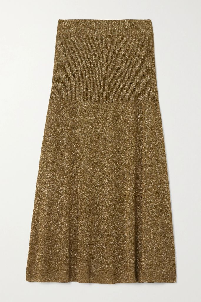Solid & Striped - Belted Tiered Cotton-poplin Midi Skirt - Black