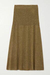 Solid & Striped - Belted Tiered Cotton-poplin Midi Skirt - Black