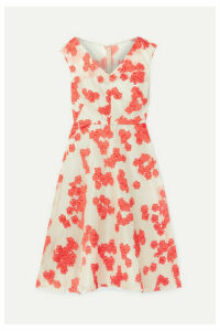 Lela Rose - Fil Coupé Silk-blend Organza Dress - Beige