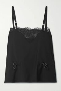 See By Chloé - Ruffled Cutout Georgette Midi Skirt - Pink