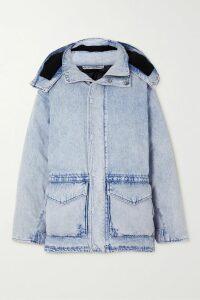 Miguelina - Esme Belted Crochet-trimmed Linen Midi Dress - Pink