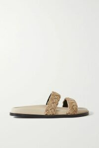 Jason Wu Collection - Tulle-trimmed Pleated Printed Chiffon Midi Skirt - Lime green
