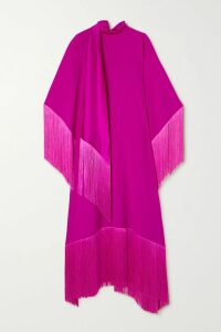 Self-Portrait - Open-back Ruched Leopard-print Jersey Maxi Dress - Cream