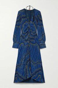 16ARLINGTON - Lipton Croc-effect Glossed-leather Midi Skirt - Black
