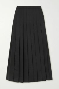 Frankie Shop - Chloe Asymmetric Pleated Satin Midi Skirt - Bronze