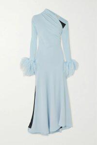 Frankie Shop - Chloe Asymmetric Pleated Satin Midi Skirt - Bronze