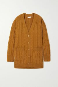 Lee Mathews - Stella Silk-satin Midi Skirt - Gold