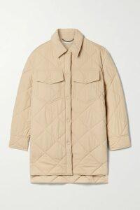 Faithfull The Brand - Yasmin Shirred Checked Crepe Midi Dress - Lime green