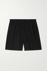 GANNI - Shirred Checked Cotton And Silk-blend Mini Dress - Pink