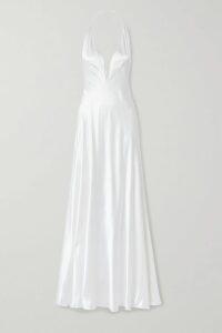 Erdem - Kirstie Floral-print Silk-voile Midi Dress - Navy