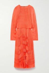 Johanna Ortiz - Sheer Magnitude Wrap-effect Ruffled Printed Cotton-voile Midi Skirt - Light green