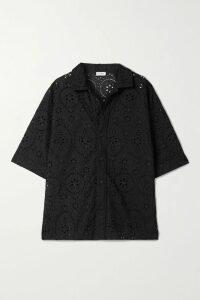 16ARLINGTON - Michelle Feather-trimmed Mini Dress - Black